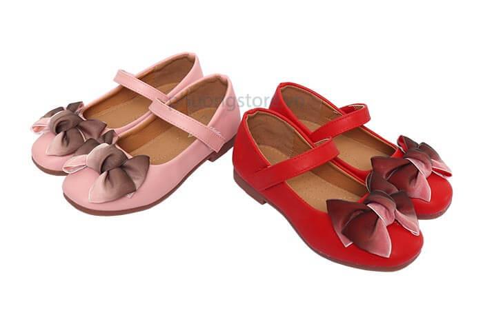 Giày búp bê đính nơ dành cho bé gái từ 3 - 12 tuổi