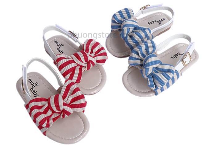 Giày sandal nơ xinh xắn cho bé gái từ 1 - 3 tuổi