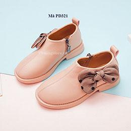 Giày boot bé gái cổ thấp sành điệu màu hồng từ 2 - 12 tuổi