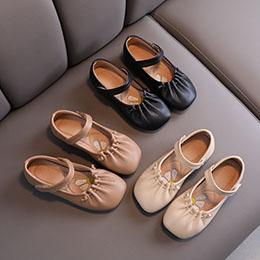 Giày trẻ em nhập khẩu kiểu búp bê da mềm cho bé từ 1 - 10 tuổi