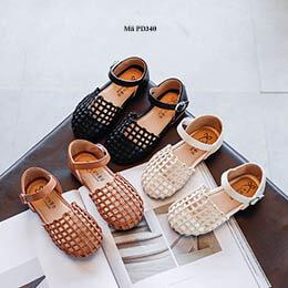 Giày búp bê bé gái kiểu rọ hàng nhập khẩu cho bé từ 1 - 12 tuổi