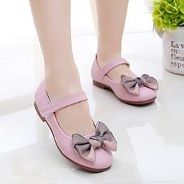 Giày búp bê bé gái từ 3 - 11 tuổi 2 màu hồng, đỏ nữ tính