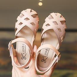 Giày sandal rọ cho bé gái từ 3 - 12 tuổi  quai dán xuất khẩu