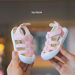 Giày sandal cho trẻ em màu hồng xinh xắn cho bé gái từ 1 - 3 tuổi