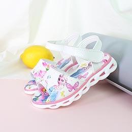 Giày cho bé từ 3 - 8 tuổi họa tiết công chúa Elsa cao cấp