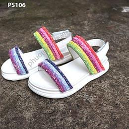 Giày bảy sắc cầu vồng cho bé gái phong cách Hàn Quốc từ 3 - 12 tuổi