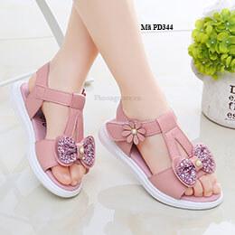 Giày sandal cho bé gái phong cách Hàn Quốc dễ thương từ 3 - 12 tuổi