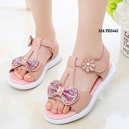 Giày sandal trẻ em gái từ 2-12 tuổi da mềm dễ thương