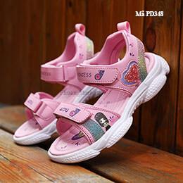Giày sandal trẻ em gái cao cấp siêu nhẹ êm màu hồng từ 3-12 tuổi