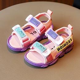 Giày sandal bé trai, bé gái xuất khẩu từ 3 - 10 tuổi 2 màu đen, hồng