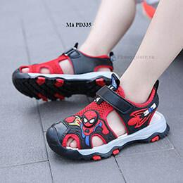 Giày sandal siêu nhân trẻ em màu đỏ cá tính cho bé trai từ 3 - 12 tuổi