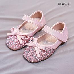Giày búp bê bé gái từ 1-12 tuổi đính hạt phong cách Hàn Quốc