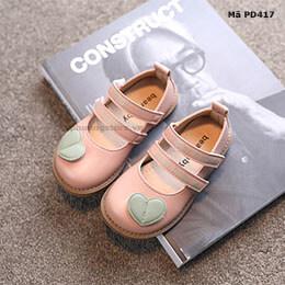 Giày búp bê bé gái từ 0-5 tuổi phong cách Vintage Hàn Quốc