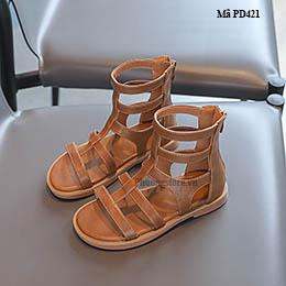 Giày chiến binh cho bé gái cổ cao từ 3-12 tuổi phong cách Hàn Quốc