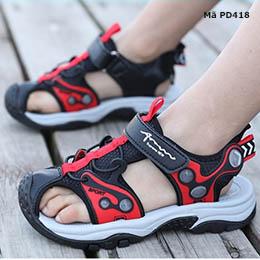 Giày sandal bé trai từ 4 - 15 tuổi phong cách Hàn Quốc kiểu bít mũi