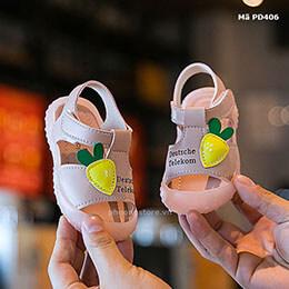 Giày tập đi cho bé gái từ 0 - 3 tuổi mềm dẻo phong cách Hàn Quốc