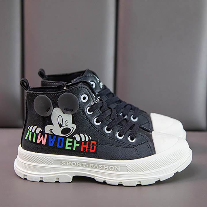 Giày bốt thể thao cổ cao cho bé gái, bé trai Mickey từ 3-12 tuổi