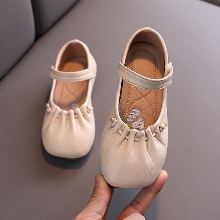 Giày búp bê cho bé gái từ 1-10 tuổi da mềm đế dẻo