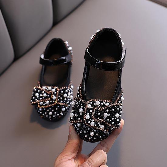 Giày búp bê cho bé gái từ 1-12 tuổi đính hạt sang trọng