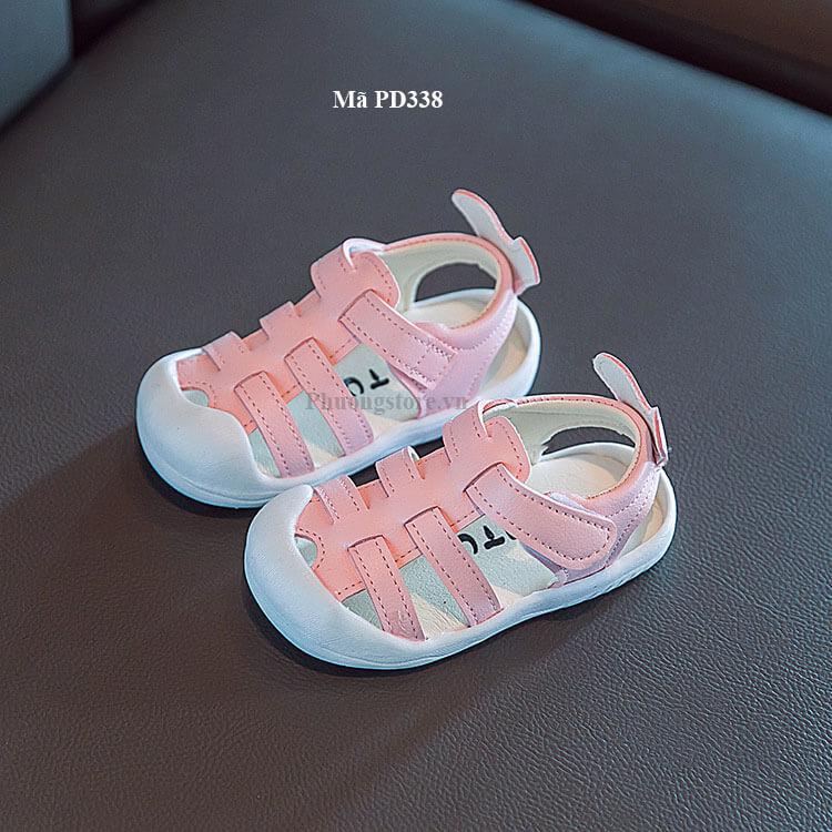 Giày sandal cho bé gái màu hồng xinh xắn từ 1 - 3 tuổi