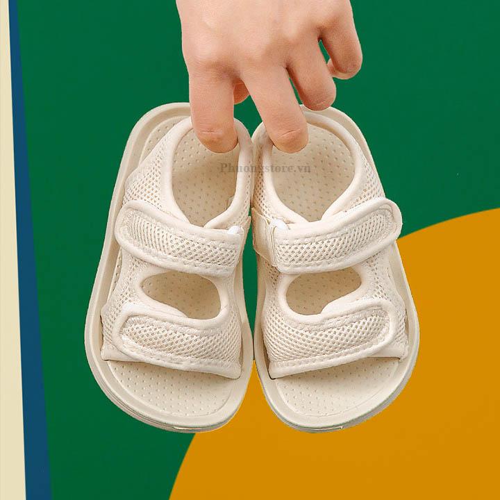Giày sandal bé trai, bé gái siêu nhẹ êm hiệu Mario cho bé từ 1 - 10 tuổi