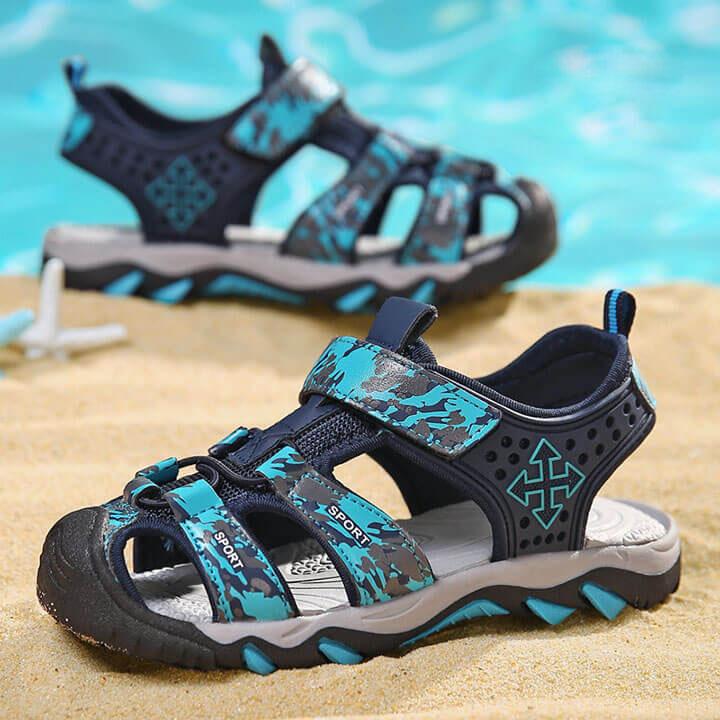 Giày sandal cho bé trai bít mũi cao cấp nhập khẩu từ 3-12 tuổi