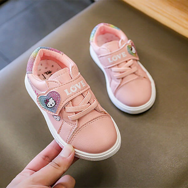 Giày thể thao bé gái hello kitty màu hồng từ 1-5 tuổi