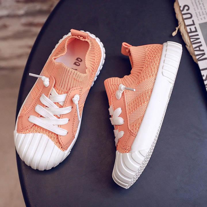 Giày thể thao cổ chun cho bé gái từ 2 - 7 tuổi phong cách Hàn Quốc