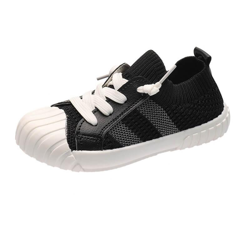 Giày thể thao cổ chun cho bé gái, bé trai từ 2 - 7 tuổi màu đen