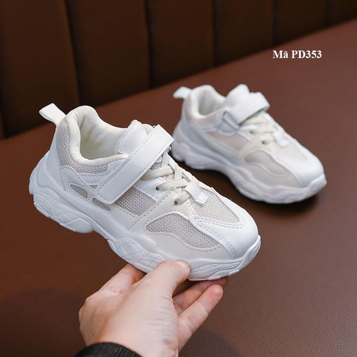 Giày thể thao trắng cho bé trai, bé gái từ 2-10 tuổi sành điệu