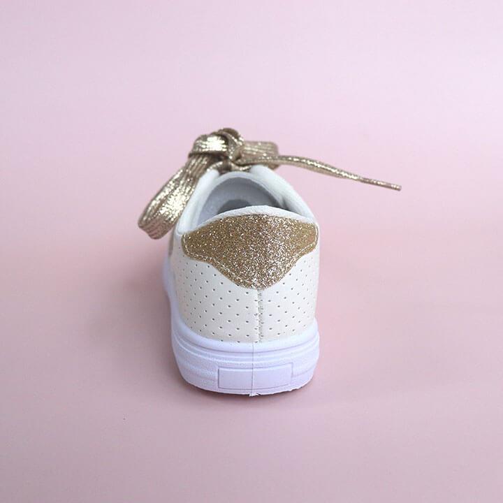 Giày thể thao trắng cho bé gái từ 2 - 10 tuổi phong cách Hàn Quốc