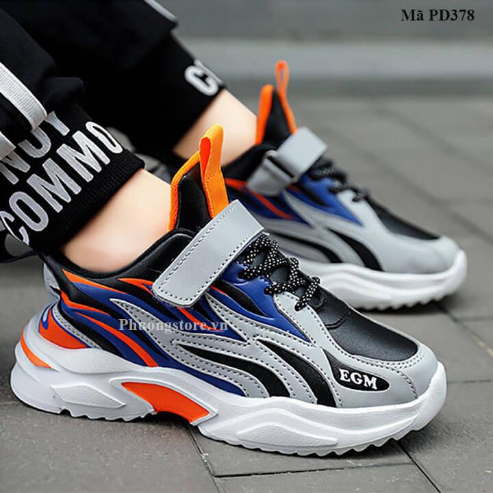 Giày thể thao trẻ em nam từ 3-12 tuổi nhẹ êm, phong cách Hàn Quốc