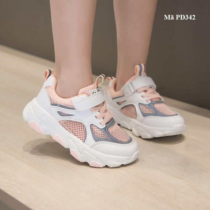 Giày thể thao trẻ em nữ phong cách Hàn Quốc cho bé từ 3 - 12 tuổi