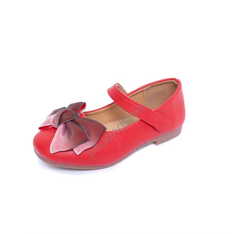 Giày búp bê cho bé gái 2 màu hồng, đỏ cho bé gái từ 3 - 11 tuổi