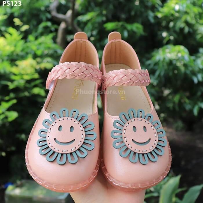 Giày búp bê trẻ em mặt cười cho bé gái từ 4 - 7 tuổi đi học, đi chơi