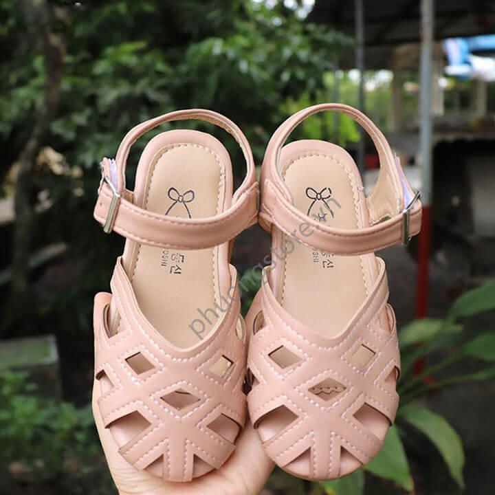 Giày búp bê cho bé gái từ 3 - 12 tuổi kiểu rọ quai gài xuất khẩu