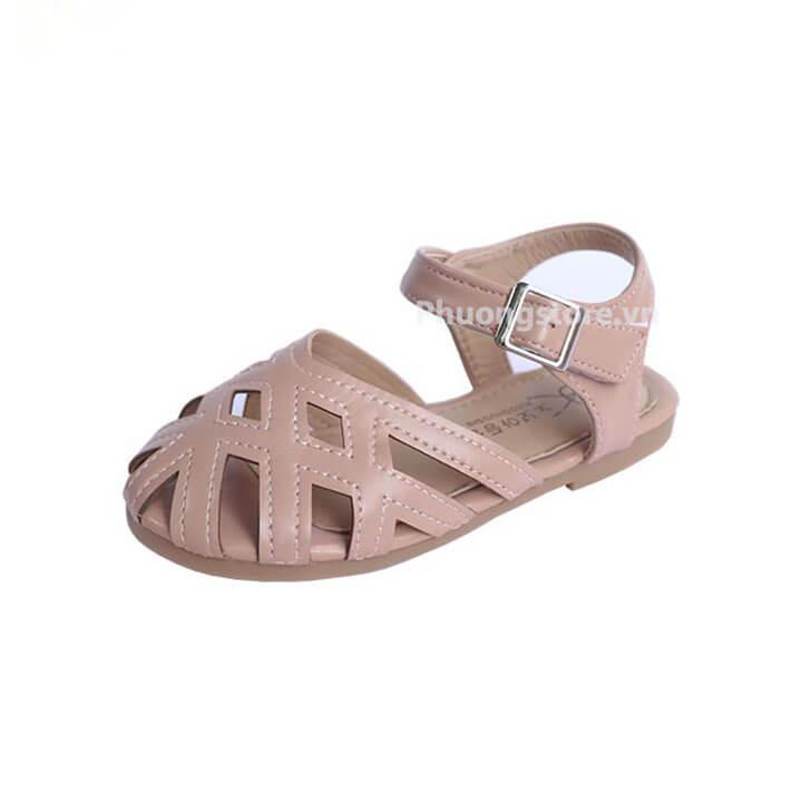 Giày búp bê cho bé gái từ 3 - 12 tuổi kiểu rọ quai dán xuất khẩu