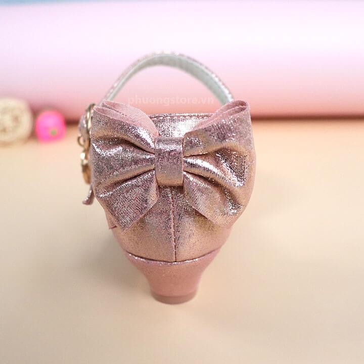 Giày búp bê cao gót công chúa Elsa hồng cho trẻ em gái từ 3 - 12 tuổi