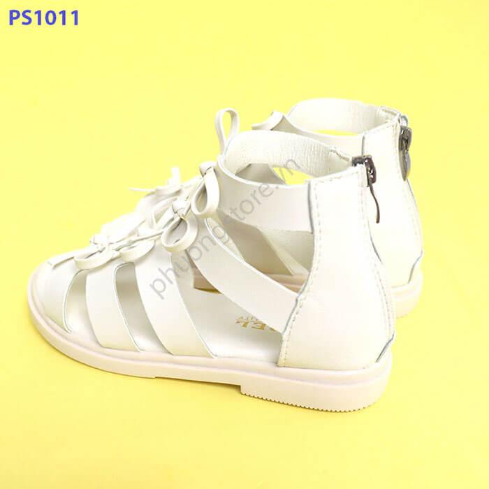 Giày sandal chiến binh nơ dành cho màu trắng bé gái từ 6 - 12 tuổi