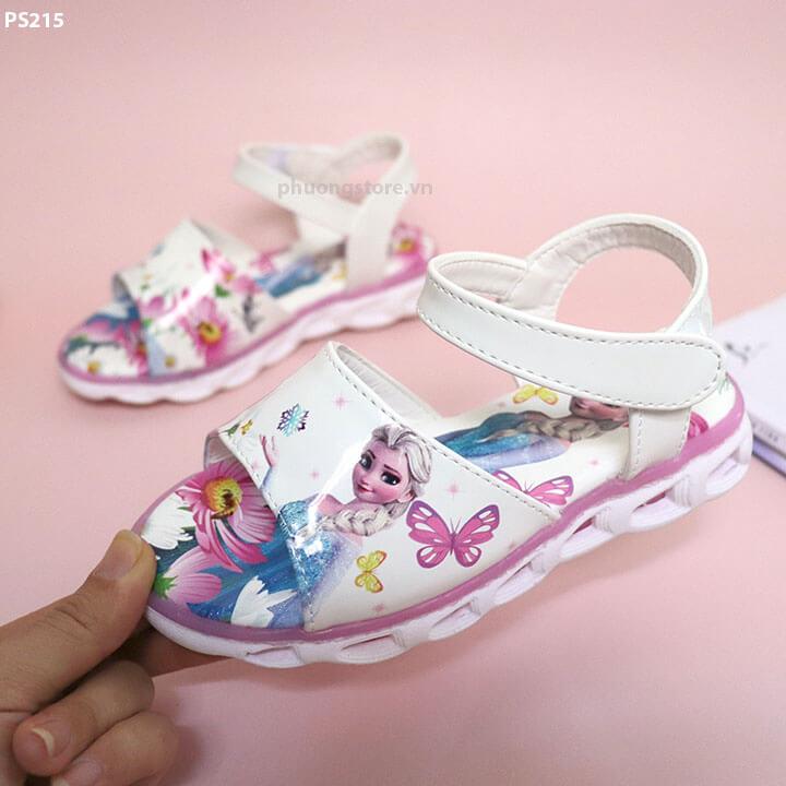Giày sandal công chúa Elsa bé gái từ 3 - 6 tuổi họa tiết 3D cực xinh