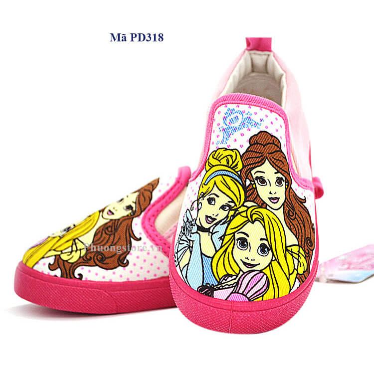 Giày lười vải cho bé gái - hàng xuất Nhật từ 2 - 5 tuổi