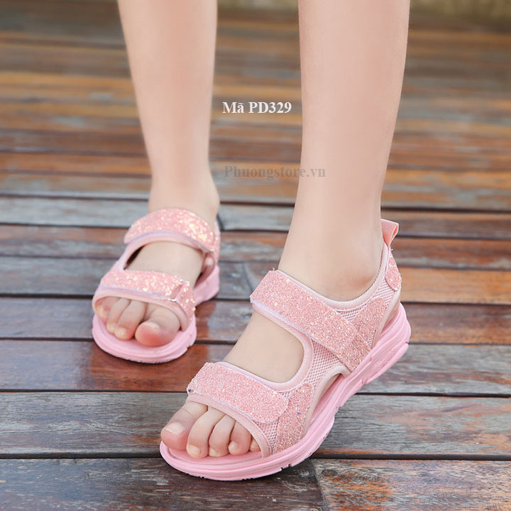 Giày quai hậu nữ đi học xinh lung linh cho bé gái từ 2 - 12 tuổi