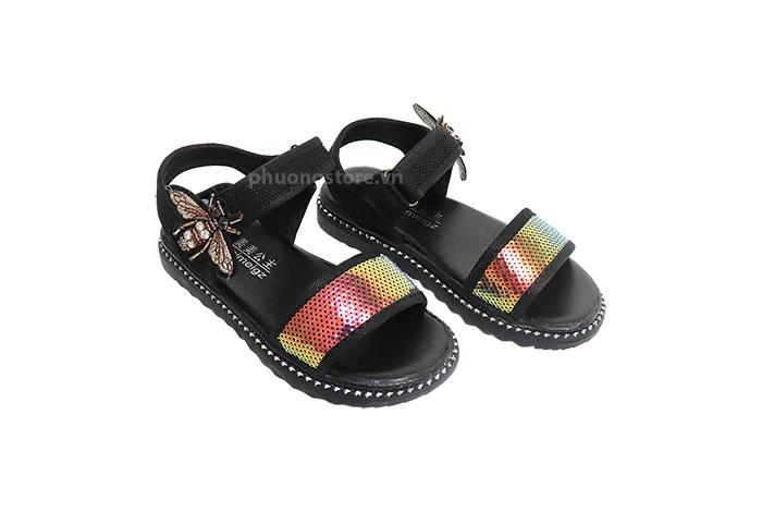 Giày bé gái xuất khẩu sandal quai dán tiện lợi cho nữ từ 3 - 12 tuổi