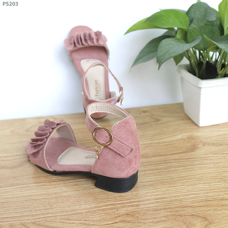 Giày sandal cao gót nữ đi học tuổi từ  3 -12 quai gài chắc chắn