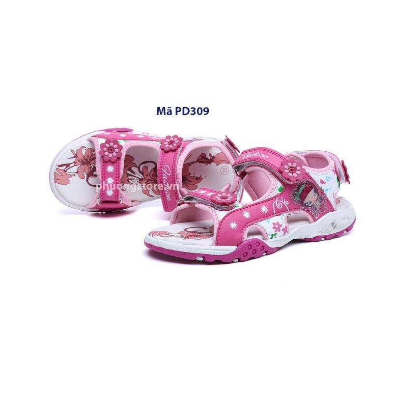 Giày sandal nữ đi học cao cấp màu hồng từ 3 - 12 tuổi