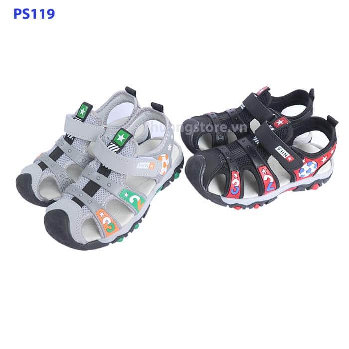 Giày sandal rọ cá tính cho bé trai từ 3 - 12 tuổi PS119