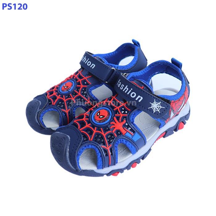 Giày siêu nhân đi học kiểu sandal Spider man bé trai từ 3 - 12 tuổi