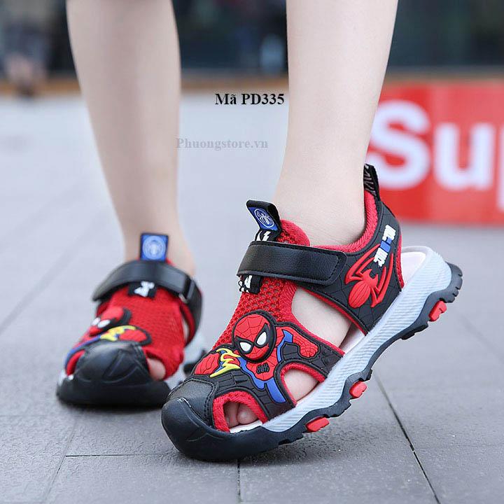 Giày sandal siêu nhân bé trai mềm êm màu đỏ từ 3 - 12 tuổi