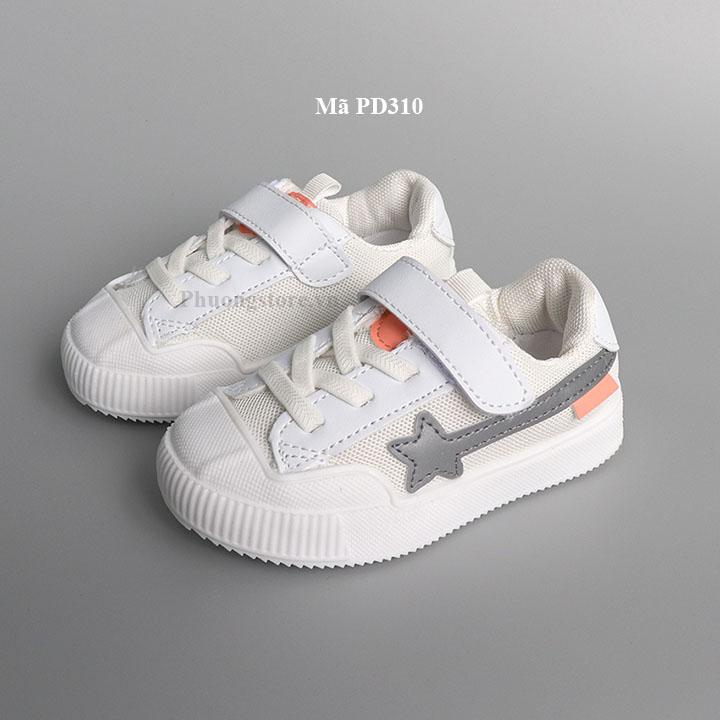 Giày thể thao cho bé trai, bé gái màu trắng từ 1 - 4 tuổi