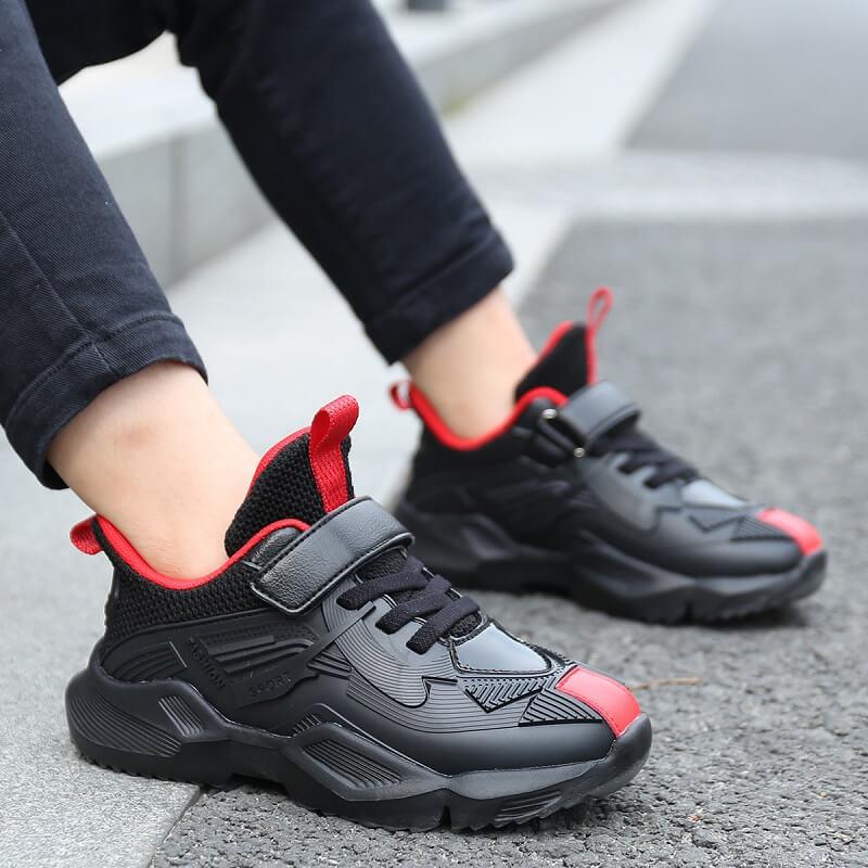 Giày thể thao cho bé trai từ 6 - 12 tuổi sneaker Hàn Quốc đen cá tính